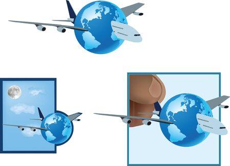 air transport incentive through aviation Иллюстрация