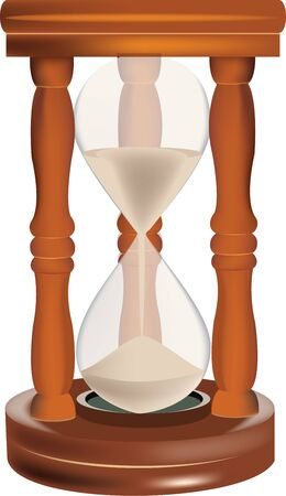old clock of the past sand hourglass Ilustração