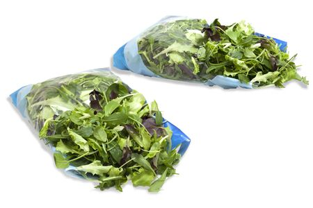 clean and packaged mixed salad package