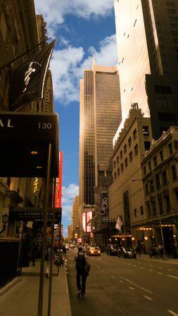 American metropolis of New York City Manhattan panorama
