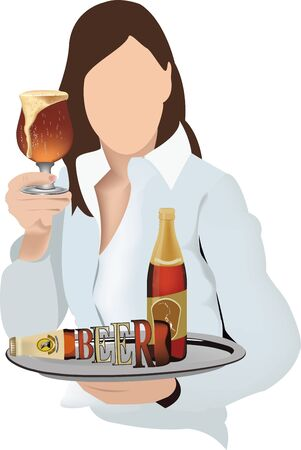timeless woman drinks a beer