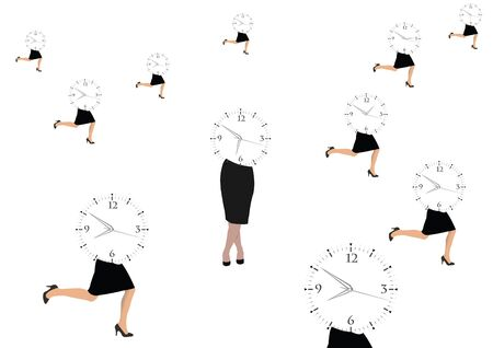 woman running with business appointment timetable