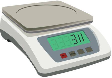 Kitchen electronics balance with led displey