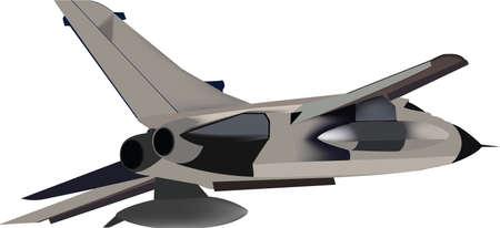 tornado interceptor defense and fighter plane Vektorové ilustrace