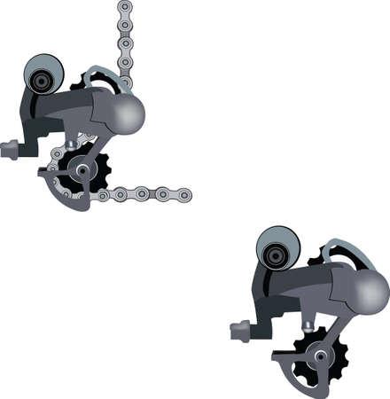 bicycle change with chain Ilustração