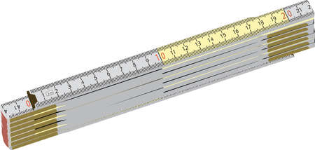 foldable wooden meter