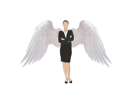 woman manager with wings woman manager with wings