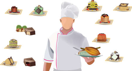 pastry chef pastry chef with pastries