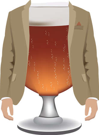 glass of beer dressed