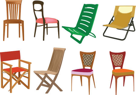 variety of chairs for seaside and relaxation offices