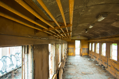 rusting: Old trains are parked outdoors where they are exposed to the heat of sunlight and rain, resulting in cracking and rusting.