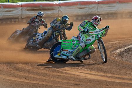 Speedway riders Maks Gregorić, Matic Voldrih, Denis Stojs