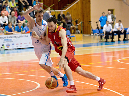 playoff: Petr Bohacik in 5th game of PlayOff Mattoni National basketball League semifinals  13 5 2014