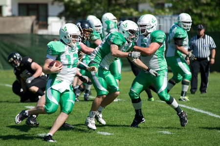 alligators: Quarterback Tom� Fortelny  Brno Alligators