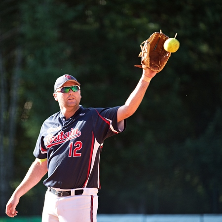 James Darby, Great Britain pitcher in match with Croatia _ Men's European Championship in softball Pardubice 14 7 2014
