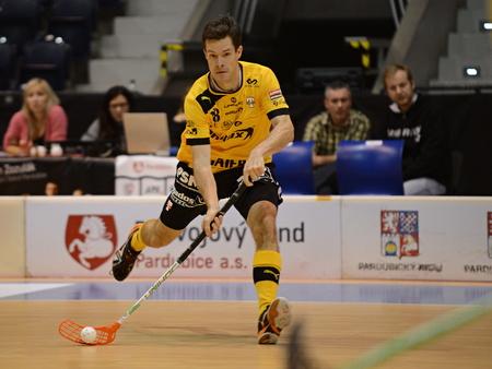 Martin Richter. 2.round of Autocont floorball extraliga Sokol PPAS Pardubice vs. Tatran Stresovice. Redakční