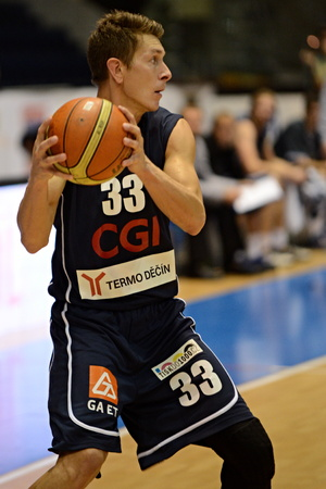 stria: Lubos Stria. 2st round of Kooperativa national basketball league between BK JIP Pardubice and BK Decin ends with score 79:70