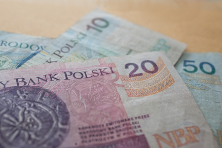 Zloty - banknotes of polish currency photo