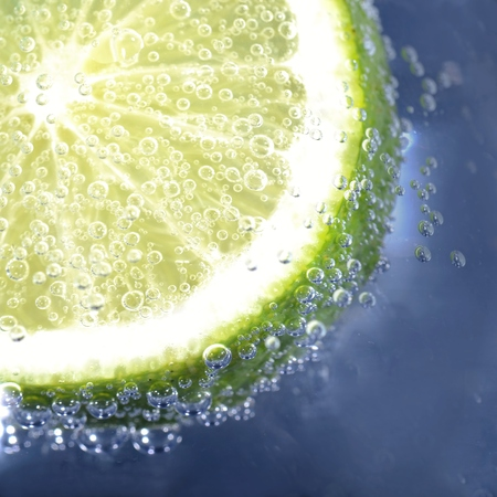 sparkling water: Lime in sparkling water