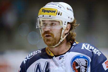 Pardubice 01162015 Ryan Hollweg _ Nejvyšší 38.round české hokejové lize Mezi HC? SOB poji? Ovna Pardubice a HC Škoda Plzeň