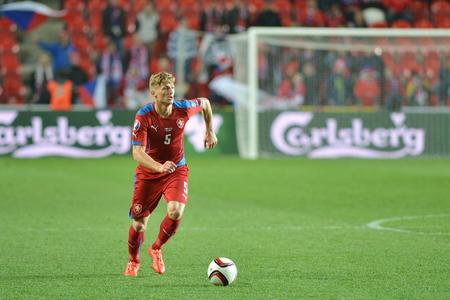 Utkání EURO 2016 kvalifikační skupiny A Česká republika - Lotyšsko 1: 1 (0: 1).