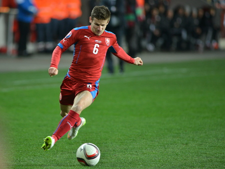 Prague 03.28.2015 _ Vaclav Pilar of Czech Republic. Match of the EURO 2016 qualification group A Czech Republic - Latvia 1: 1 (0: 1).