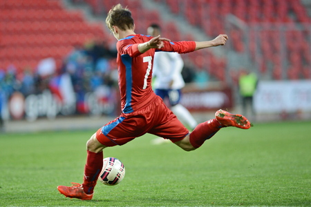 03312015 PRAHA _ David Houska. Přátelský zápas české Reublic U21 - U21 Portugalsko