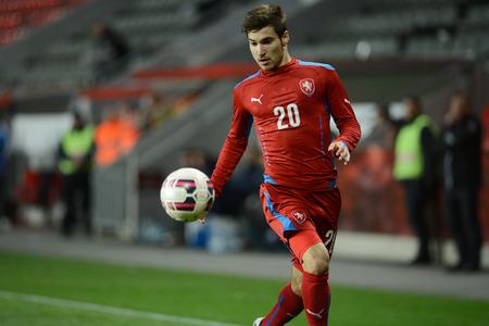 03312015 PRAHA _ Michal Trávník. Přátelský zápas české Reublic U21 - U21 Portugalsko