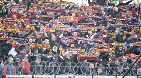 fanatics: Hradec Kralove 04.04.2015 _ Match Between FC Hradec Kralove and AC Sparta Praha Editorial