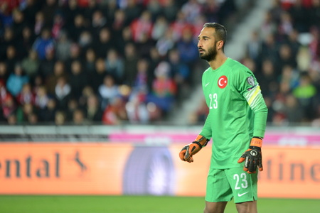 10102015 PRAGUE _ Volkan Babacan. Match of the EURO 2016 qualification group A Czech Republic - Turkey
