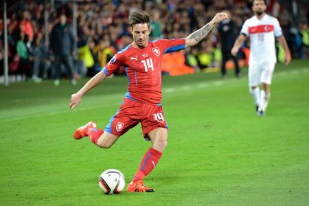 10102015 PRAGUE _ Milan Petržela. Match of the EURO 2016 qualification group A Czech Republic - Turkey