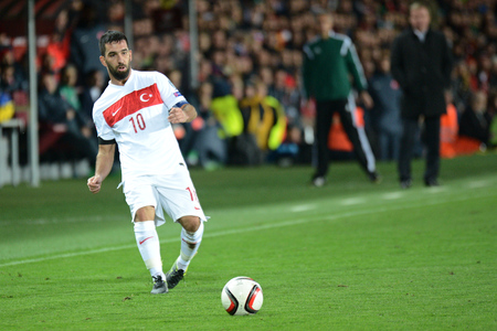 10102015 PRAGUE _ Arda Turan. Match of the EURO 2016 qualification group A Czech Republic - Turkey