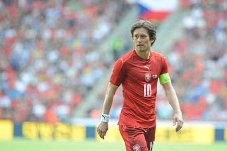 05062015 PRAGUE _ Tomas Rosicky, Capitain of Czech Republic team. Friendly match Czech Reublic - South Korea