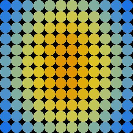 Vícebarevný Geometrická 144 dots ilustrace bezešvé pozadí
