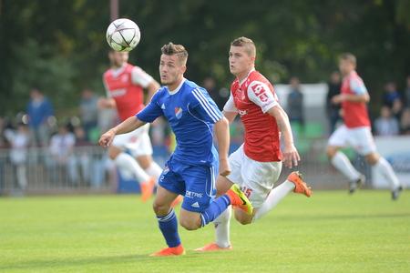 24  září  2016: Match české druhé ligy Mezi FK Pardubice a FC Baník Ostrava.