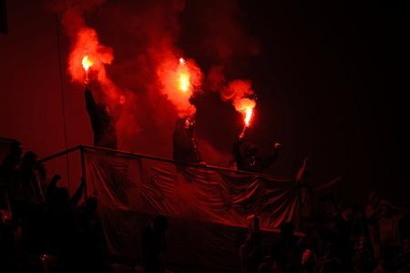 19  září  2016 _ Tribuna Sever Slavia fanoušci 7.round české fotbalové ligy Mezi SK Slavia Praha a FC Slovan Liberec.