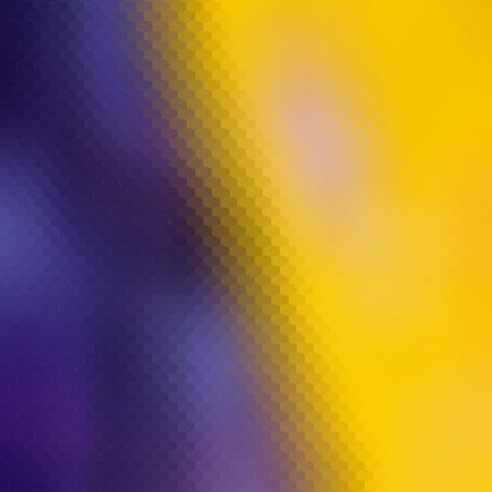 Fialovo-žlutý low poly hexa polygon Ilustrace