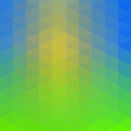 Žluto-modrá-zelená low poly trojúhelník polygon
