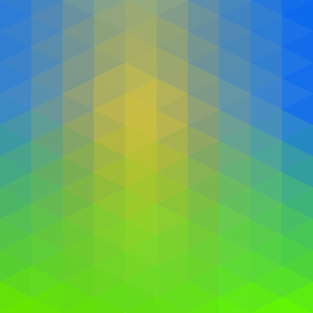 Yellow-Blue-Green low poly triangle polygon