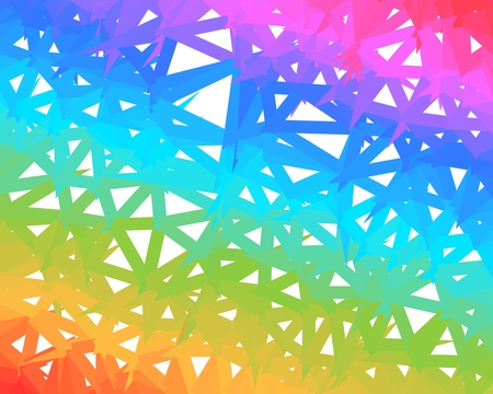 Vector colorful polygonal net rainbow background Ilustrace