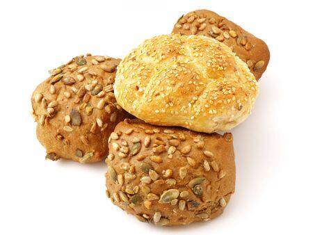 baked goods isolated on white background photo