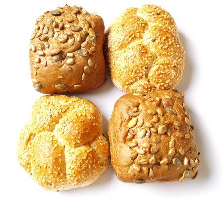 baked  goods: baked goods isolated on white background