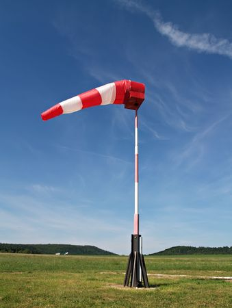 wind instrument: wind sock at small airfield