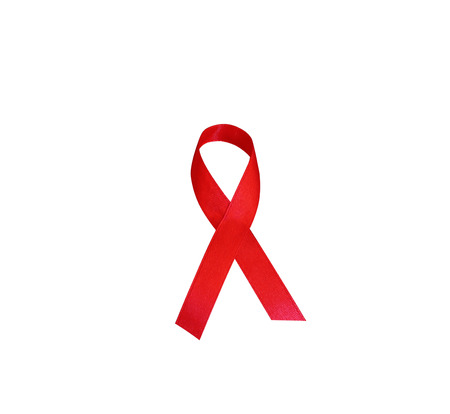 sexual intercourse: World AIDS Day. 1st December World Aids Day poster. Aids Awareness.Red ribbon as symbol isolated on white background.