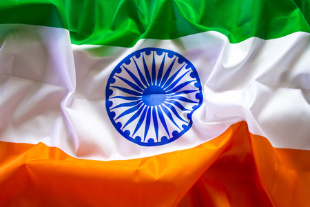 The Flag Of  India. The place to advertise, template.The view from the top.