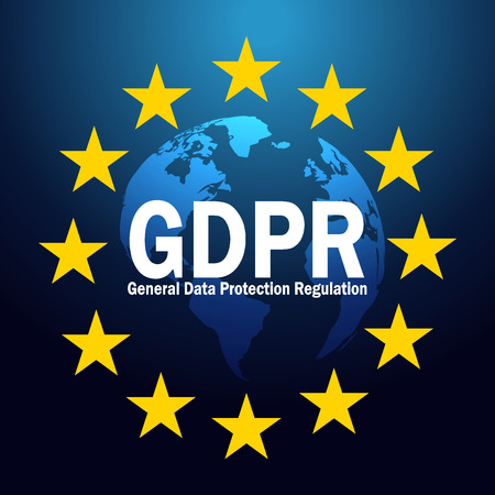 GDPR General Data Protection Regulation on 25 may 2018. GDPR vector illustration.
