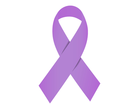 Lavender ribbon awareness for cancers 일러스트