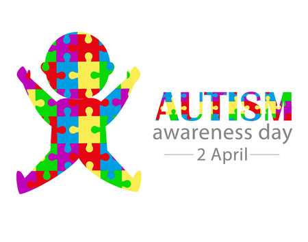 World Autism Awareness Day 2 april creative concept design Illustration