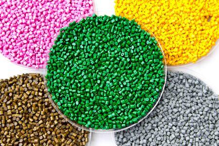 The plastic granules. Dye for polypropylene, polystyrene in granules.