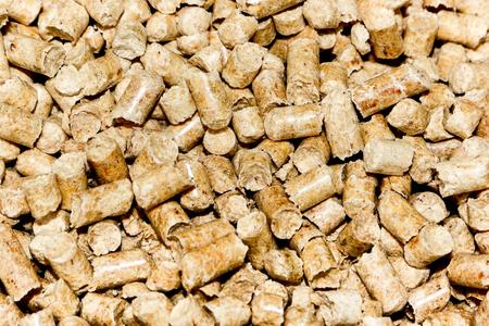 Wood pellets background. Archivio Fotografico